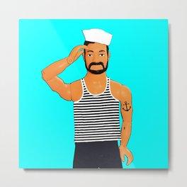 Hello Sailor! Funny Gay Pop Art! Metal Print