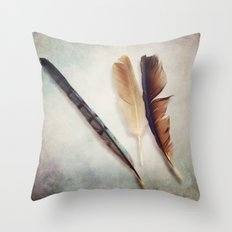 Feather Study III Throw Pillow