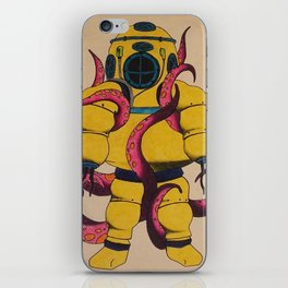 Yellow Scuba Diver iPhone Skin