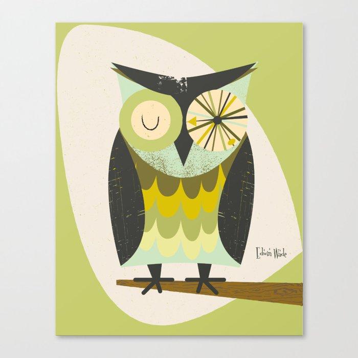 Mid Century Modern Owl 2 Leinwanddruck