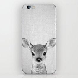 Baby Deer - Black & White iPhone Skin