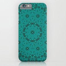 Beautiful mandala in teal and green Slim Case iPhone 6
