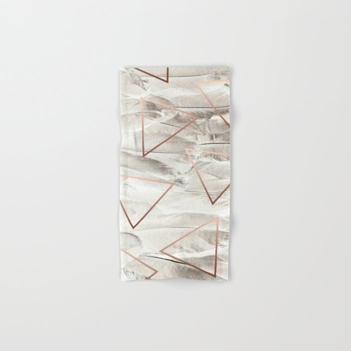 Feathers & Copper #society6 #decor #buyart Hand & Bath Towel
