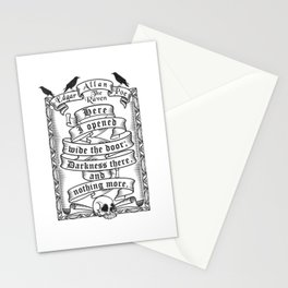 Edgar Allen Poe - The Raven Stationery Cards