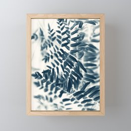 Royal Fern In Blue #2 Framed Mini Art Print