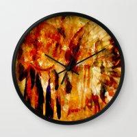 dreamcatcher Wall Clocks featuring Dreamcatcher by valzart