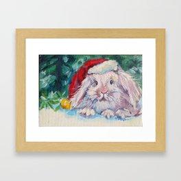 Jingle Bunny Framed Art Print