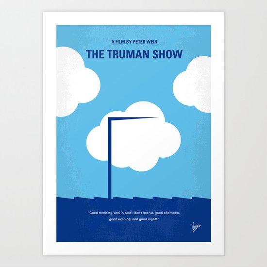No234 My Truman show minimal movie poster Art Print