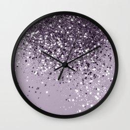 Sparkling Lavender Lady Glitter #2 #shiny #decor #art #society6 Wall Clock
