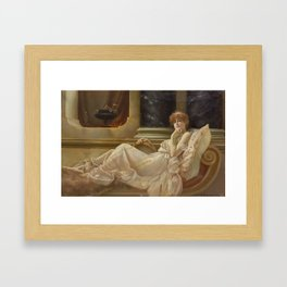 Charles Frederick Lowcock(British, 1878-1922)Femme sur la chaise Framed Art Print