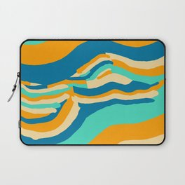 Waves abstract shape Laptop Sleeve