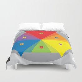 Color wheel by Dennis Weber / Shreddy Studio with special clock version Duvet Cover