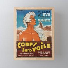 Affiche corps sans voile   filles deve. 1961  Framed Mini Art Print