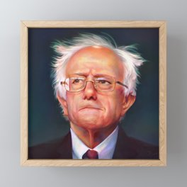Bernie Sanders 46th President of the United States || UNOFFICIAL PRESIDENTIAL PORTRAIT PAINTING Framed Mini Art Print