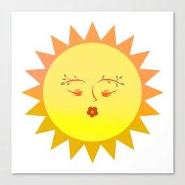 Lovely Sun Canvas Print
