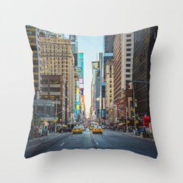 Sunset on 7th Avenue Throw Pillow