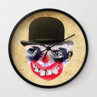 clown Wall Clocks featuring Clown by Ahmet Hacıoğlu