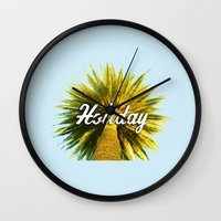 holiday Wall Clocks featuring Holiday by husavendaczek