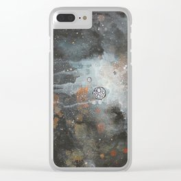 Twice Mooned Clear iPhone Case