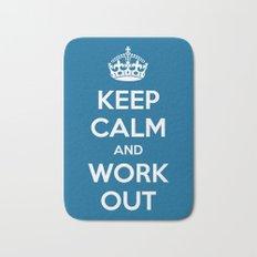 Keep Calm Workout Gym Quote Bath Mat