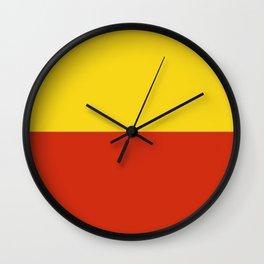 Flag of Prague Wall Clock