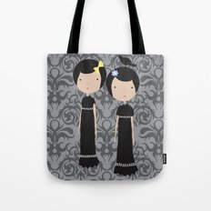 Meredith and Delany: Vampire Twins Tote Bag