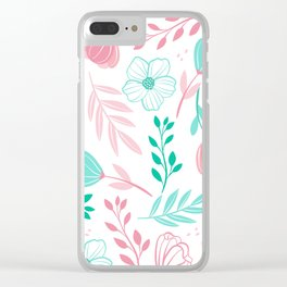 Tini Flowers Clear iPhone Case