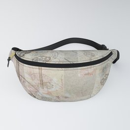 Antique French Key and Postmark Fanny Pack