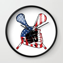 A Sports Tee For Sporty You With An Illustration Of A Helmet American Flag T-shirt Design America Wall Clock