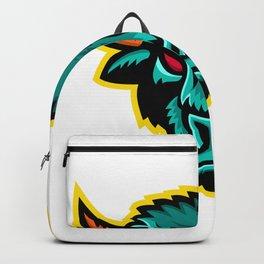 American Bison Head Sports Mascot Backpack