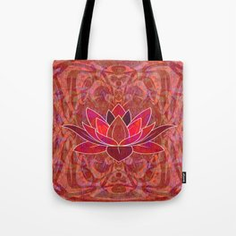 Red Root Lotus Chakra Hyperspace Psychedelic Print Tote Bag