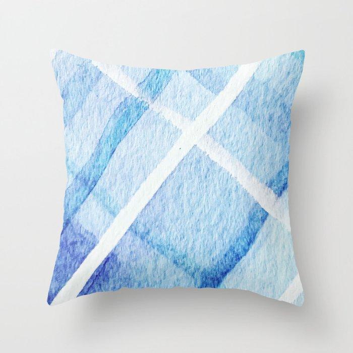Watercolor Blues Throw Pillow