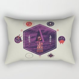It fell from the stars, It rose from the sea Rectangular Pillow