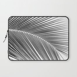 Palm leaf - bw Laptop Sleeve
