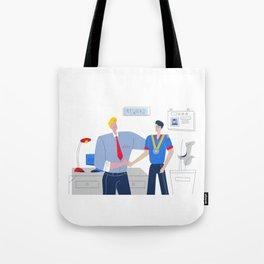 Boss Rewarding Employee Tote Bag