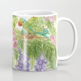 Birds and Orchids Tropical Rainforest II Coffee Mug