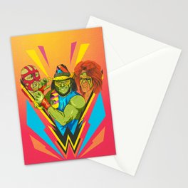 Classic Wrestling Stationery Cards
