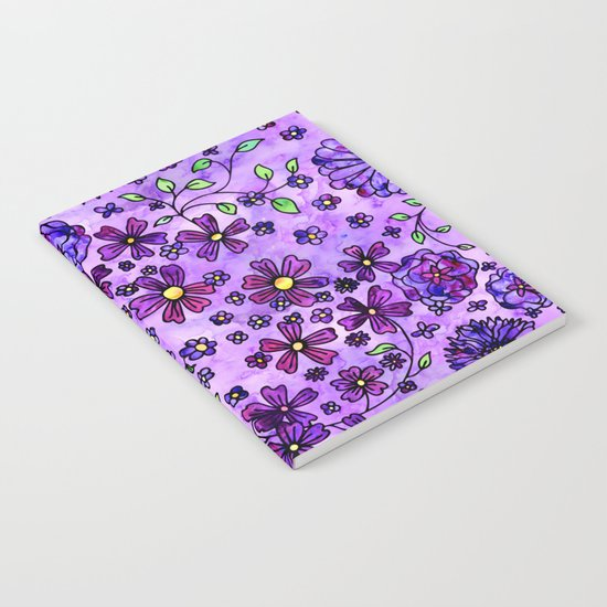Purple Small Flowers Notebook