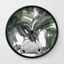 Hinding Frenchy - grey Wall Clock