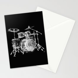 Black Drums Stationery Cards