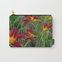 Tiger Lily Garden Carry-All Pouch