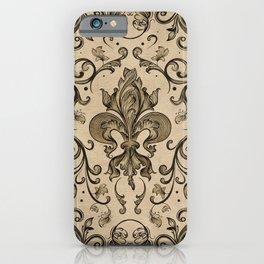 Vintage Fleur-de-lis ornament  iPhone Case
