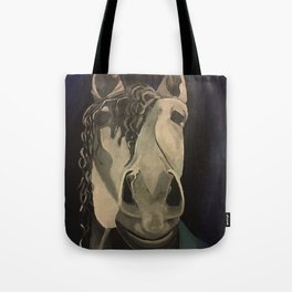 Blue Horse Tote Bag