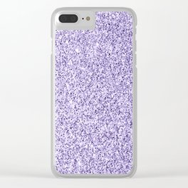 Ultra violet light purple glitter sparkles Clear iPhone Case