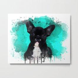 Watercolor French Bulldog Metal Print