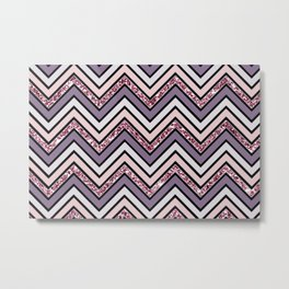 Chevron on Chic Metal Print
