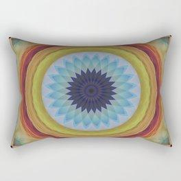 Mandala with blue flower Rectangular Pillow