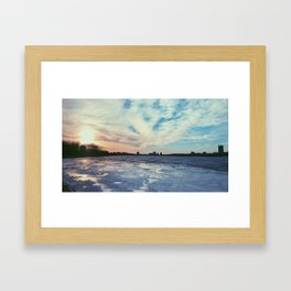 Boston winter Framed Art Print