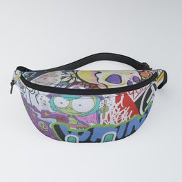 Sticker Collage Number Three Fanny Pack