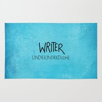 writer Area & Throw Rugs featuring Writer by Indie Kindred